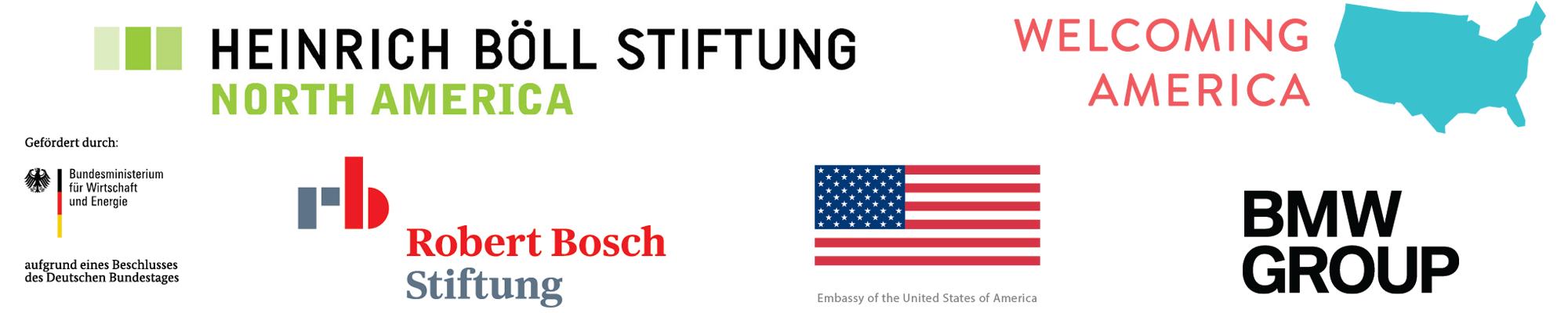 Welcoming Communities Transatlantic Exchange funder logos